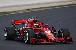 February 26, 2018 - Barcelona, Catalonia, Spain - February 26, 2018 - Circuit de Barcelona-Catalunya, Montmelo, Spain - Formula One preseason 2018; Kimi RAIKKONEN from Finland  of Team Scuderia Ferrari, Ferrari SF71H, Ferrari 062 engine. (Credit Image: © Eric Alonso via ZUMA Wire)