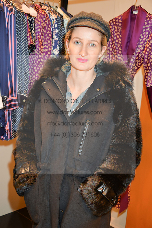 ZOE JORDAN at a party to celebrate the launch of Olivia von Halle, 151 Sloane Street, London on 25thNovember 2015