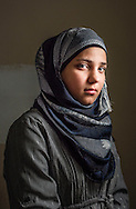 Alaa', age 15, from Aleppo  is a syrian refugee student at a the Free Syria school.