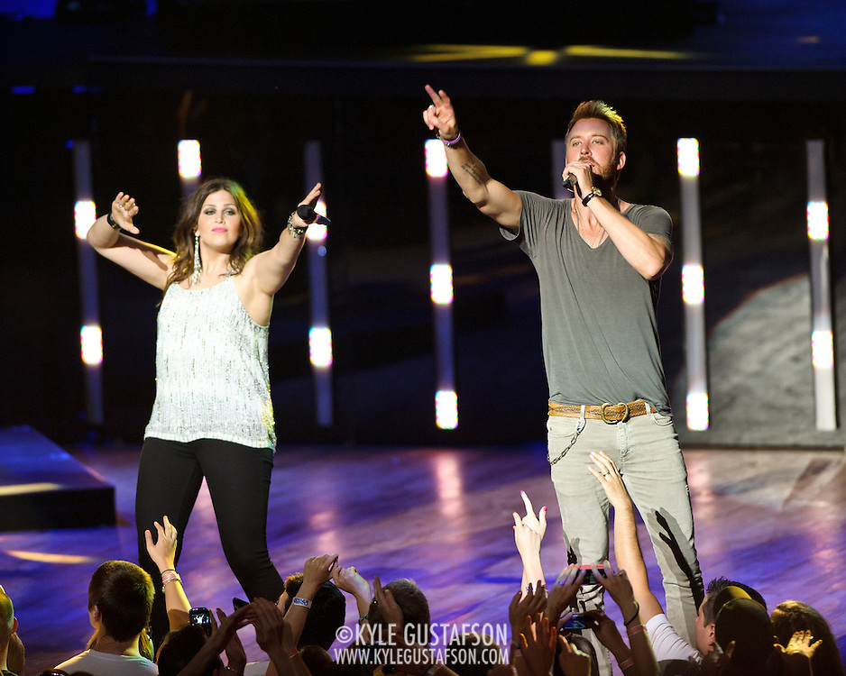 COLUMBIA, MD -  May 20th, 2012 - Hillary Scott and Charles Kelley of the Grammy Award-winning group Lady Antebellum perform to a packed house at Merriweather Post Pavilion in COlumbia, MD.  The group's last album, We Own The Night, reached #1 on the US Billboard 200. (Photo by Kyle Gustafson/For The Washington Post)