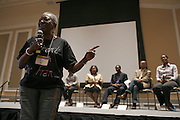 Dr. Francine Childs speaks during the Black Alumni panel discussion May 19, 2007.