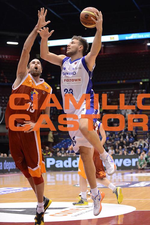 DESCRIZIONE : Milano Coppa Italia Final Eight 2013 Quarti di Finale FoxTown Cantu Acea Roma<br /> GIOCATORE : Stefano Mancinelli<br /> CATEGORIA : tiro<br /> SQUADRA : FoxTown Cantu <br /> EVENTO : Beko Coppa Italia Final Eight 2013<br /> GARA : FoxTown Cantu Acea Roma<br /> DATA : 07/02/2013<br /> SPORT : Pallacanestro<br /> AUTORE : Agenzia Ciamillo-Castoria/M.Marchi<br /> Galleria : Lega Basket Final Eight Coppa Italia 2013<br /> Fotonotizia : Milano Coppa Italia Final Eight 2013 Quarti di Finale FoxTown Cantu Acea Roma<br /> Predefinita :