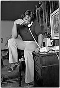 April 1976  •  Santa Monica, CA  •  Arnold at home  •  magazine assignment (Bunte)  •   Tri-X  •