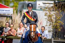 Van Gorp Marthe, BEL, Loreen van de Landhoek<br /> Belgisch Kampioenschap - Azelhof 2019<br /> © Hippo Foto - Dirk Caremans<br /> Van Gorp Marthe, BEL, Loreen van de Landhoek