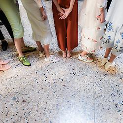 Foto  LaPresse/Piero Cerutti<br /> 24-09-2016, Milano<br /> moda<br /> Milano Fashion Week primavera/estate 2017<br /> nella foto: Il backstage di Vivetta<br /> <br /> Photo LaPresse/Piero Cerutti<br /> 24-09-2016, Milan<br /> fashion<br /> Milan Fashion Week spring/summer 2017<br /> In the pic: The backstage of Vivetta show