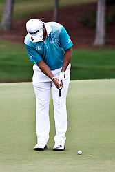 August 11, 2017 - Charlotte, North Carolina, United States - Hideki Matsuyama putts the 17th green during the second round of the 99th PGA Championship at Quail Hollow Club. (Credit Image: © Debby Wong via ZUMA Wire)