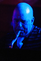 The G-MEN Soul Band at Meadow Farm.Saxophone Martin Hurd.16 February 2013.Image © Paul David Drabble