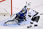 VANCOUVER, CANADA - APRIL 13: of the Vancouver Canucks of the Los Angeles Kings in Game Two of the Western Conference Quarterfinals during the 2012 NHL Stanley Cup Playoffs at Rogers Arena on April, 13, 2012 in Vancouver, British Columbia, Canada. (Photo by Derek Leung/Getty Images) *** LOCAL CAPTION *** playername