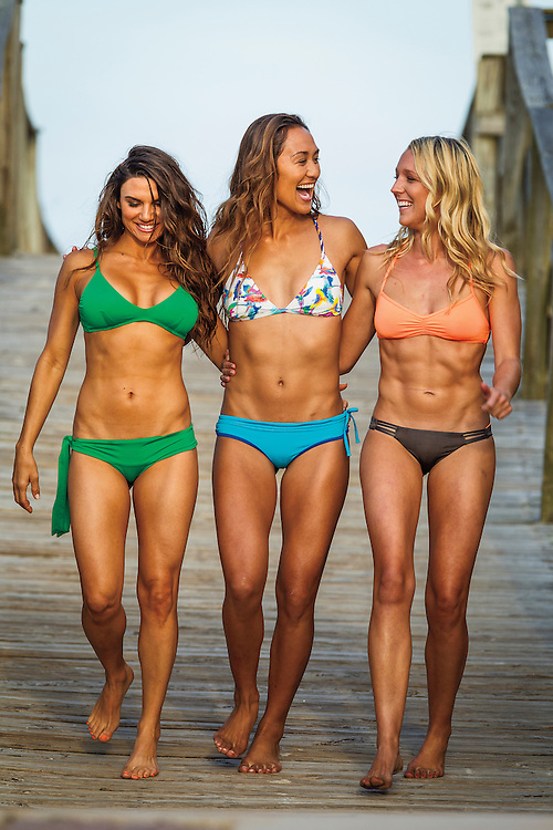 Lauren Abraham, Erin McDaniel and Erika Lani Cook in North Carolina for the 2014 SUP Swimsuit Issue.