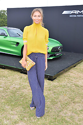 Emma Louise Connolly at the Laureus King Power Cup polo match held at Ham Polo Club, Richmond, London England. 22 June 2017.<br /> Photo by Dominic O'Neill/SilverHub 0203 174 1069 sales@silverhubmedia.com