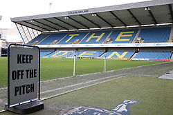 The Den is ready to welcome Ipswich town - Photo mandatory by-line: Robin White/JMP - Tel: Mobile: 07966 386802 18/01/2014 - SPORT - FOOTBALL - The Den - Millwall - Millwall v Ipswich Town - Sky Bet Championship