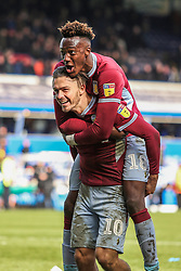 March 10, 2019 - Birmingham, England, United Kingdom - Jack Grealish and Tammy Abraham of Aston Villa celebrate after the full time whistle during the Sky Bet Championship match between Birmingham City and Aston Villa at St Andrews, Birmingham on Sunday 10th March 2019. (Credit Image: © Mi News/NurPhoto via ZUMA Press)