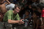 Zach Montes & kids<br /> Phillipai<br /> GUYANA<br /> South America