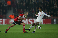 Football - 2016 / 2017 UEFA Europa League - Group K: Southampton vs Hapoel Be'er Sheva<br /> <br /> Southampton's Oriol Romeu knocks the ball past Maharan Radi of Hapoel Be er Sheva at St Mary's Stadium Southampton England<br /> <br /> COLORSPORT/SHAUN BOGGUST