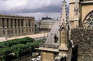 France. Paris. 1st district. Elevated view. Saint germain l'auxerrois church . view from l'Hôtel de la Place du Louvre