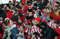 Champions League 23.11.05, Rosenborg - Olympiakos              <br /> Illustration, supporters<br /> Foto: Carl-Erik Eriksson, Digitalsport