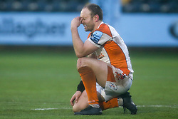 Chris Pennell of Worcester Warriors cuts a dejected figure after missing a penalty to win the game for his side - Mandatory by-line: Robbie Stephenson/JMP - 15/02/2020 - RUGBY - Sixways Stadium - Worcester, England - Worcester Warriors v Bath Rugby - Gallagher Premiership Rugby