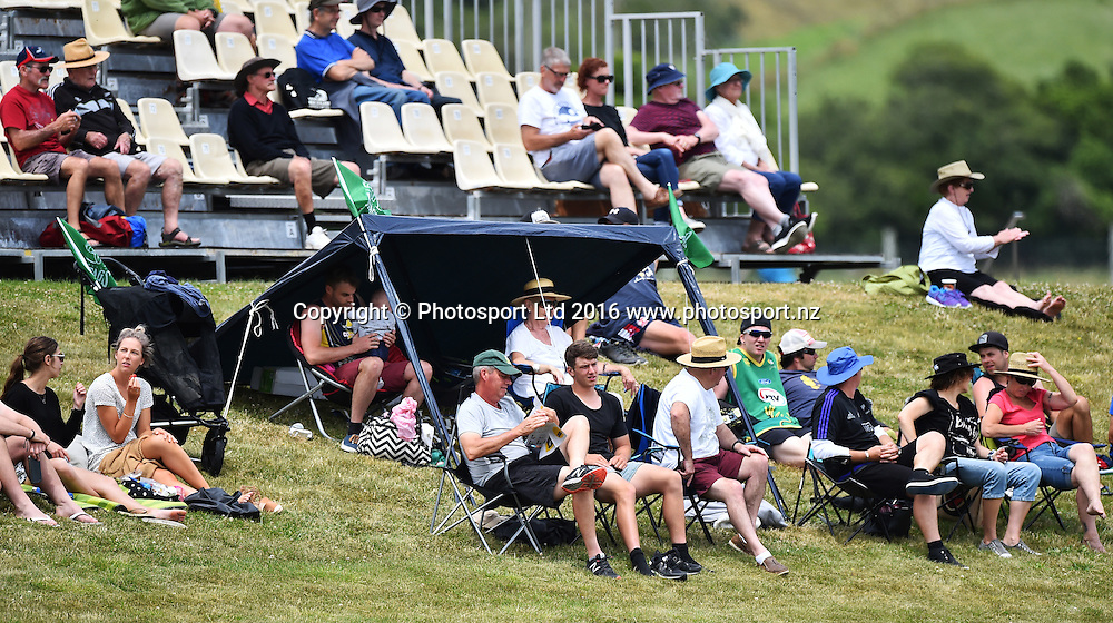 Fans during the McDonalds Super Smash T20 match Central Stags v Wellington Firebirds. Saxton Oval, Nelson, New Zealand. Sunday 18 December 2016. ©Copyright Photo: Chris Symes / www.photosport.nz