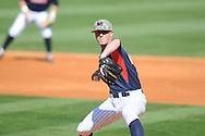 Ole Miss' Mike Mayers (28) pitches vs. Vanderbilt at Oxford-University Stadium Stadium in Oxford, Miss. on Saturday, April 6, 2013. Vanderbilt won 2-1.