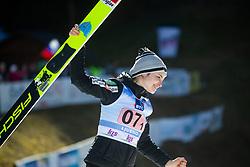 celebrates after Day 1 of FIS Ski Jumping World Cup Ladies Ljubno 2020, on February 22th, 2020 in Ljubno ob Savinji, Ljubno ob Savinji, Slovenia. Photo by Matic Ritonja / Sportida