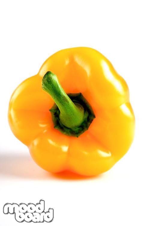 Yellow paprika on white background