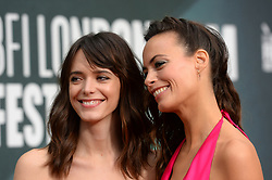 Stacy Martin and Berenice Bejo arriving at the London Film Festival Premiere of Redoubtable, at the Embankment Gardens cinema, London. Picture date: Saturday October 7th, 2017. Photo credit should read: Matt Crossick/ EMPICS Entertainment.