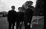 Christian Brothers .1972..11.08.1972..08.11.1972..11th August 1972..At St Marys,Christian Brothers College,Bray, the Christian Brothers prepare for their final profession before they move to the different provincial houses throughout the country...Image of the newly professed brothers, (L-R),Bro Robert Paul Dalton, Cork City, Bro David Anthony McAuliffe,Cork City and Bro Joseph J Houlihan,Dingle,Co Kerry.
