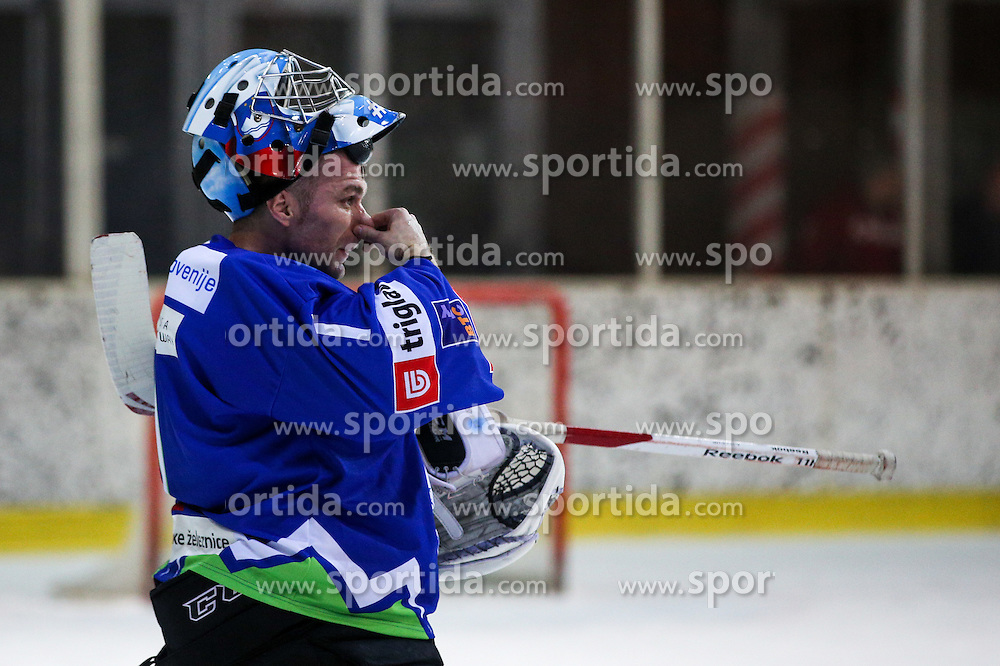 Andrej Hocevar of Slovenia during friendly ice hockey match between Slovenia and Croatia, on April 12, 2016 in Ledena dvorana, Bled, Slovenia. Photo By Matic Klansek Velej / Sportida