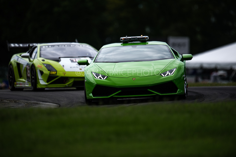 August 22-24, 2014: Virginia International Raceway. Huracan pace car