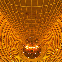 China, Shanghai, Atrium inside Grand Hyatt Shanghai Hotel inside Jin Mao Tower in city's Pudong District