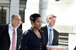 Norristown, PA., USA - May 24, 2016; Bill Cosby's legal team, including Monique Presley and Brian McMonagle arrive at Montgomery County Courthouse in Norristown, PA, for a preliminary hearing of actor and comedian Bill Cosby's sexual assault case.