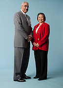 Barry Rand, the new CEO of AARP poses for a portrait with Jeanie Chin Hanson at the AARP Headquarters in Washington, DC, April 7, 2009. Jennie Chin Hansen at the AARP Headquarters in Washington, DC, April 7, 2009.