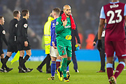 West Ham United goalkeeper Darren Randolph (35) at full time during the Premier League match between Leicester City and West Ham United at the King Power Stadium, Leicester, England on 22 January 2020.