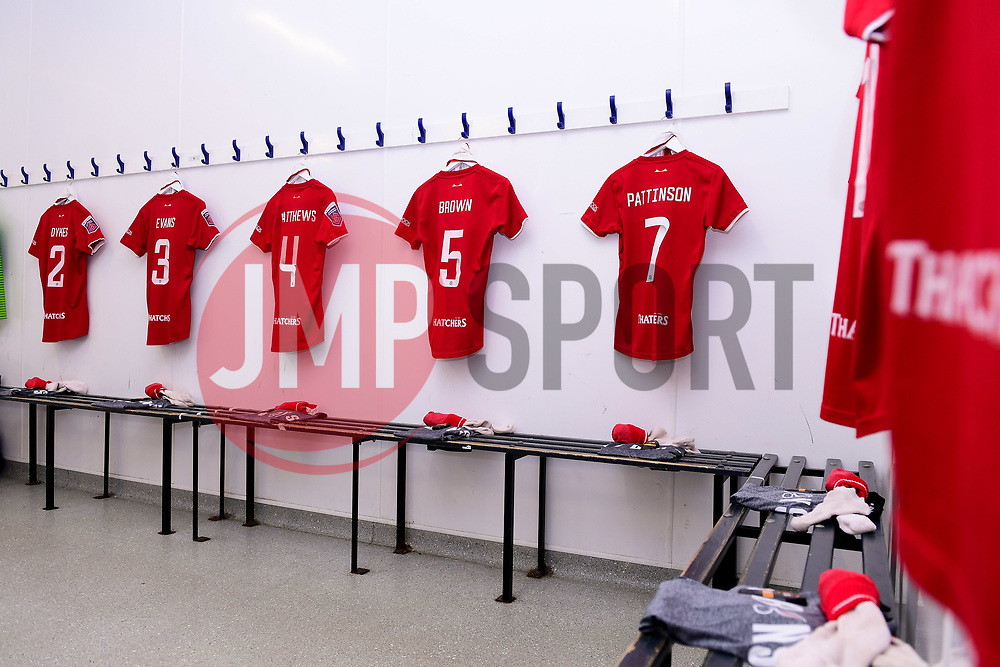 General view of the Bristol City Women changing room prior to kick off - Mandatory by-line: Ryan Hiscott/JMP - 19/01/2020 - FOOTBALL - Stoke Gifford Stadium - Bristol, England - Bristol City Women v Liverpool Women - Barclays FA Women's Super League