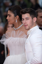 Actress Priyanka Chopra and her husband Nick Jonas attending the Les Plus Belles Annees d'Une Vie Premiere as part of the 72nd Cannes International Film Festival in Cannes, France on May 18, 2019. Photo by Aurore Marechal/ABACAPRESS.COM