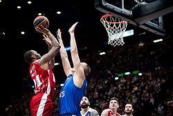 December 29, 2017 - Assago, Milan, Italy - Amath M'Baye (#24 AX Armani Exchange Milan) shoots a layup during a game of Turkish Airlines EuroLeague basketball between  AX Armani Exchange Milan vs Crvena Zvzda Mts Belgrade at Mediolanum Forum in Milan, Italy, on 29 december 2017. (Credit Image: © Roberto Finizio/NurPhoto via ZUMA Press)