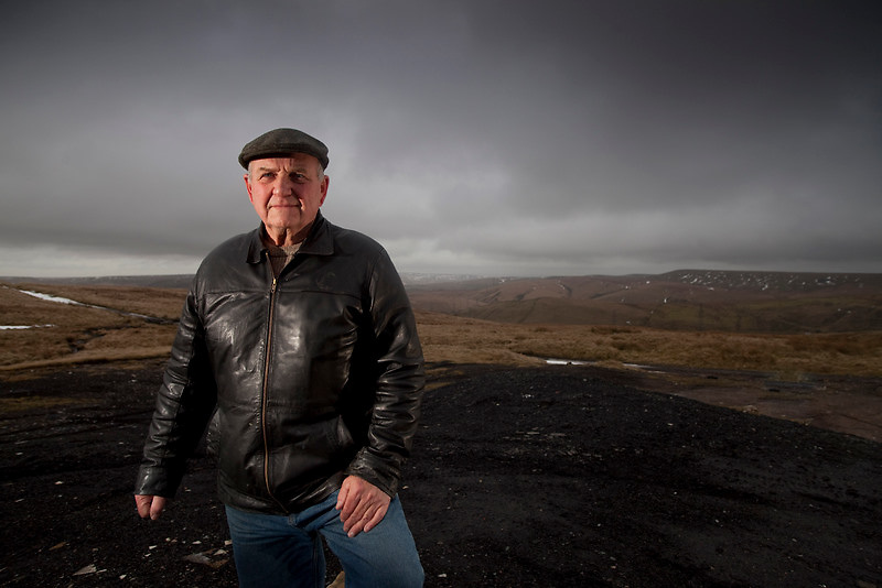 Jan 2010 Pennine Prospects PORTRAITS - Jack Ratcliffe near old mine workings along Flower Scar Road above Todmorden