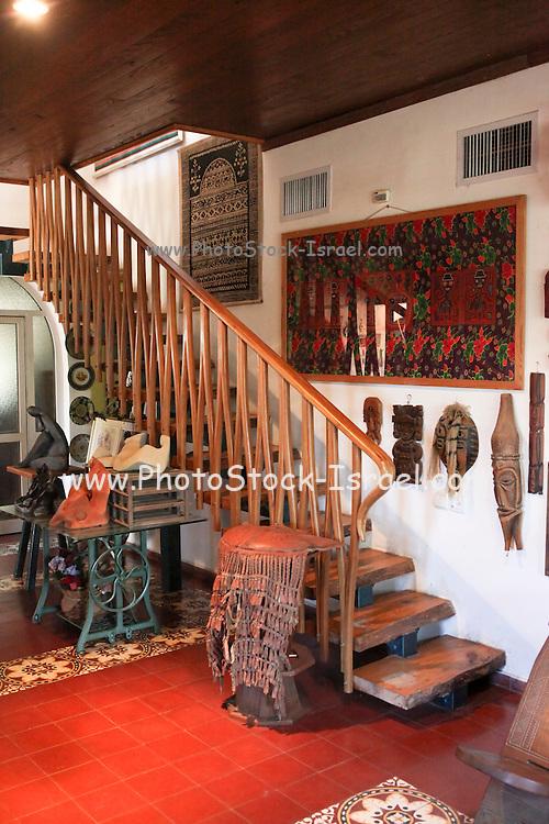 Interior design wooden staircase