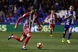 March 2, 2017 - A CoruñA, Galicia - A CO Yannick Carrasco midfielder of Atletico de Madrid (10) drives the ball during the La Liga Santander match between Deportivo de La Coruña and Atletico de Madrid at Riazor Stadium on March 2, 2017 in A Coruña, Spain. (Credit Image: © Jose Manuel Alvarez Rey/NurPhoto via ZUMA Press)