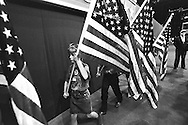 Children with US flags, Republican National Convention floor.