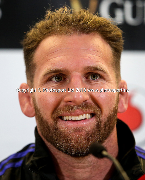 New Zealand Press Conference, Aviva Stadium, Dublin 18/11/2016<br /> Kieran Read<br /> Copyright photo: Tommy Dickson / www.photosport.nz