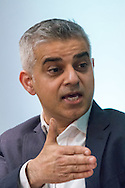 Labour's Sadiq Khan during the Greener London Hustings in advance of the London Mayoral election at One Wimpole Street, London.<br /> Picture by Focus Images/Focus Images Ltd 07814 482222<br /> 04/03/2016