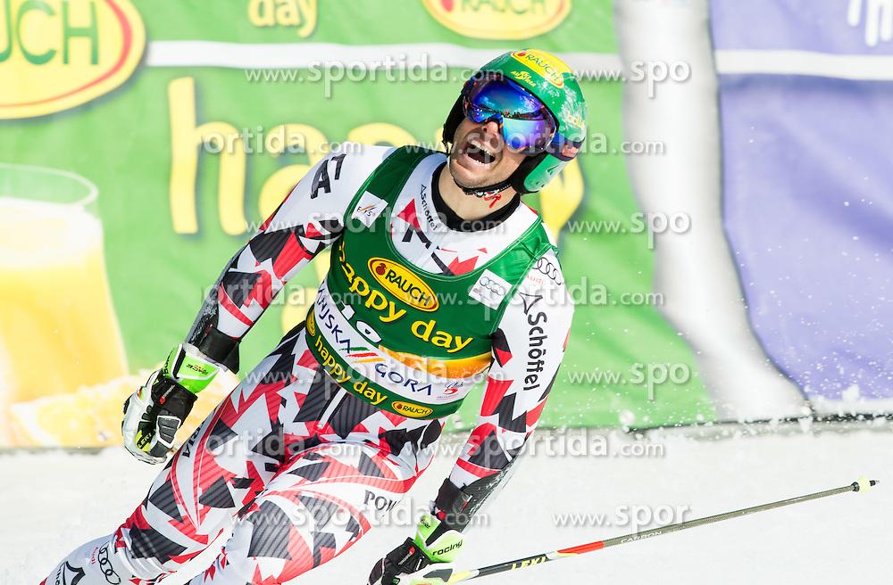 SCHOERGHOFER Philipp of Austria reacts during Men Giant Slalom race of FIS Alpine Ski World Cup 54th Vitranc Cup 2015, on March 14, 2015 in Kranjska Gora, Slovenia. Photo by Vid Ponikvar / Sportida