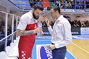 Ivanov Dayan, Esposito Vincenzo<br /> Happycasa Basket Brindisi - The Flexx Pistoia<br /> Legabasket SerieA 2017-2018<br /> Brindisi 28/01/2018<br /> Foto Ciamillo-Castoria / Michele Longo