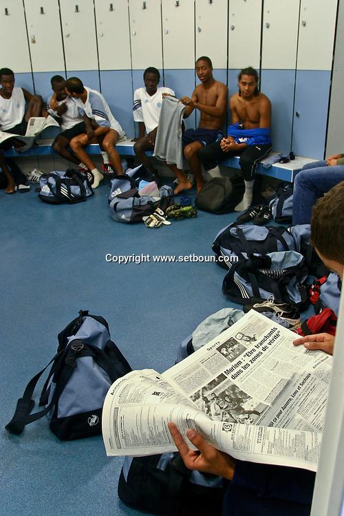 football centre de formation pour les jeunes a líolympique de   Marseille  France  football training center at the OM Olympic de Marseille.  Marseille  France   L0008209
