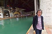 "56th Art Biennale in Venice - All The World's Futures.<br /> Arsenale.<br /> Xu Bing with his installation ""The Phoenix"", 2015."