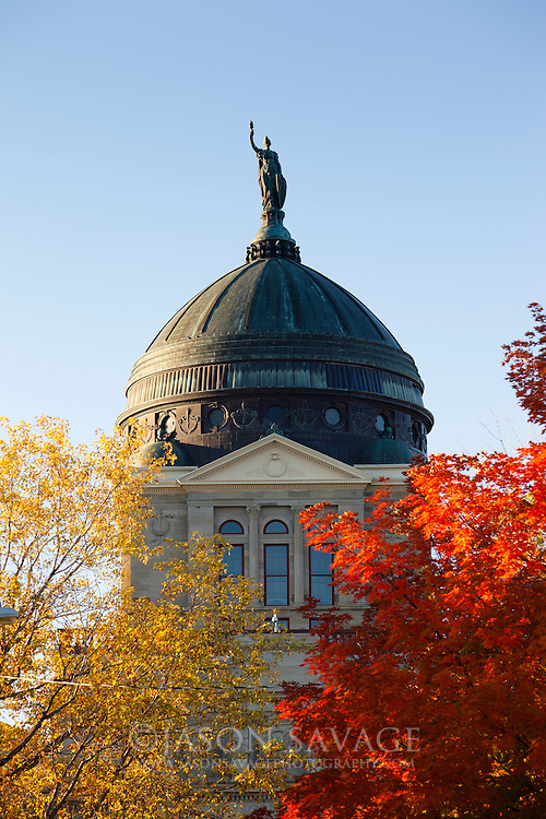 Fall at Montana's Capitol building, Helena.