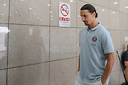 BEIJING, CHINA - JULY 31: (CHINA OUT)<br /> <br /> Paris Saint-Germain Training Session In Beijing<br /> <br />  Zlatan Ibrahimovic of Paris Saint-Germain attends a training session ahead of the French Super Cup football match against Guingamp at the Workers Stadium on July 31, 2014 in Beijing, China.<br /> ©Exclusivepix