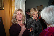 RACHEL JOHNSON; FIONA SHACKLETON, Launch of book by Nicholas Coleridge.- The Adventuress. Annabels. Berkeley Sq. London. 9 October 2012.