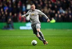 Luke Shaw of Manchester United  - Mandatory by-line: Joe Meredith/JMP - 20/12/2017 - FOOTBALL - Ashton Gate Stadium - Bristol, England - Bristol City v Manchester United - Carabao Cup Quarter Final